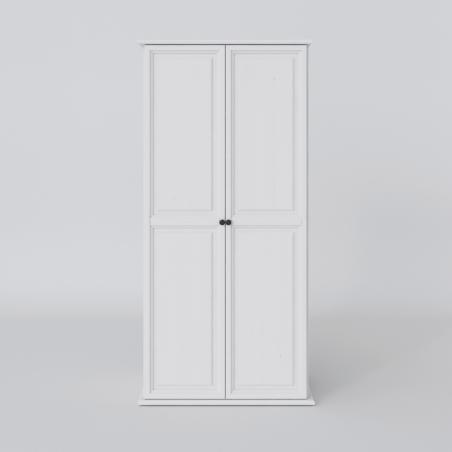 Biała szafa dwudrzwiowa - 2