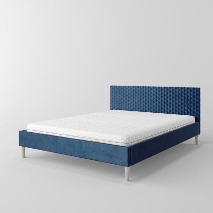 łóżko tapicerowane z pikowaniem - 8