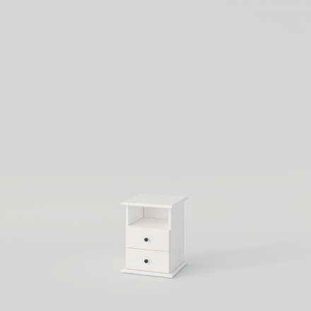 Biała szafka nocna - Komody Drewniane