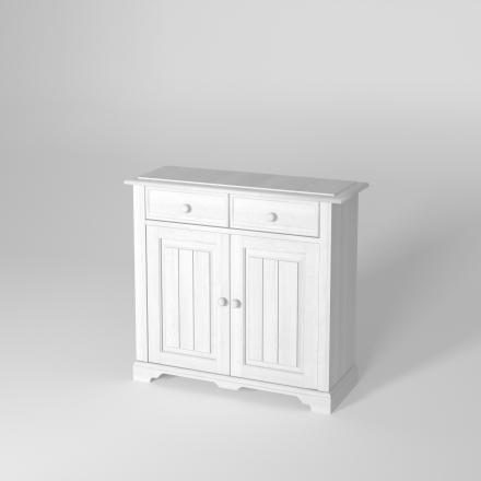 Ekskluzywna biała komoda - Komody Drewniane